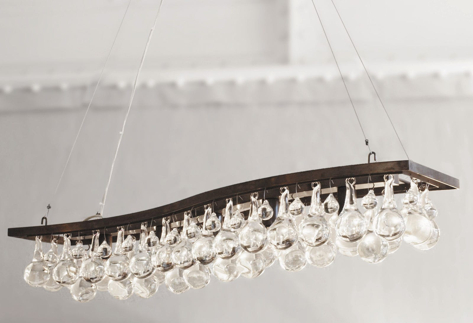 Contemporary chandelier glass nickel bronze ARCTIC PEAR – Chandelier Single