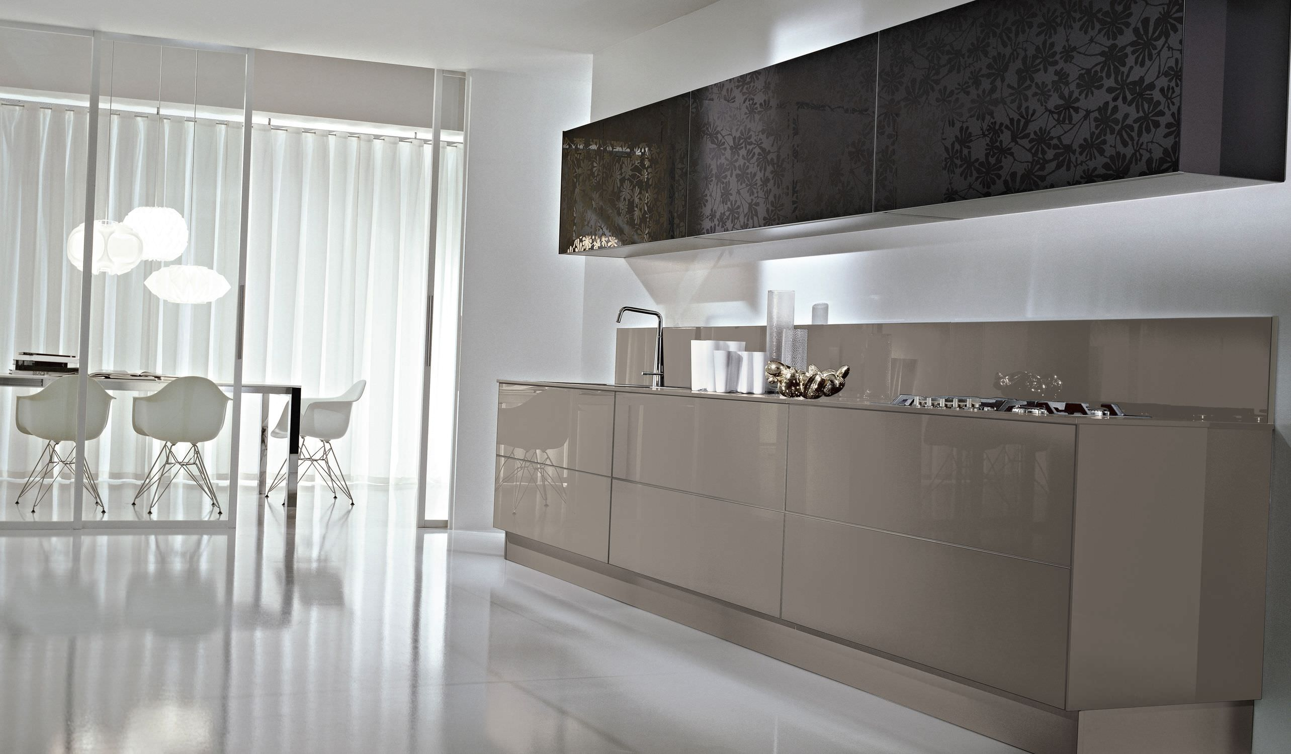 Contemporary kitchen / glass / lacquered - SYSTEM COLLECTION