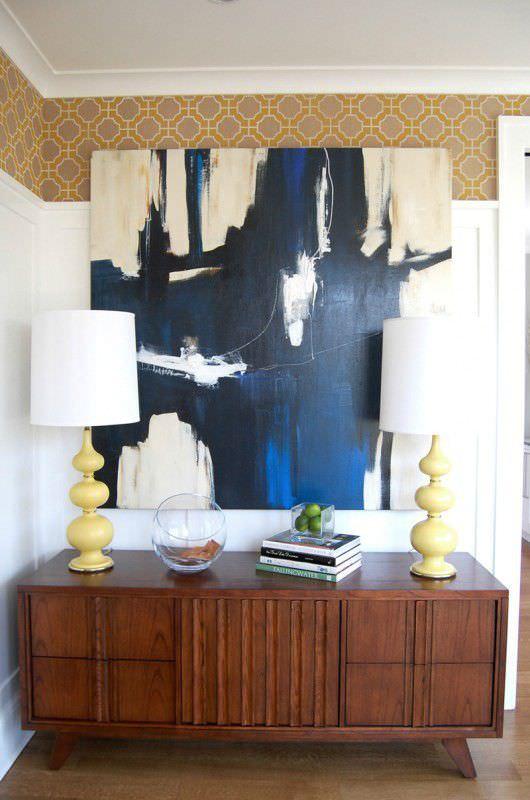 ... traditional wallpaper / patterned / handmade ...