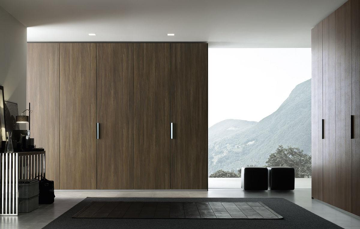 Contemporary Wardrobe Melamine With Swing Doors With Sliding
