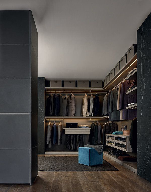 ... Contemporary Walk In Wardrobe / Melamine / Wooden / Glass UBIK Poliform
