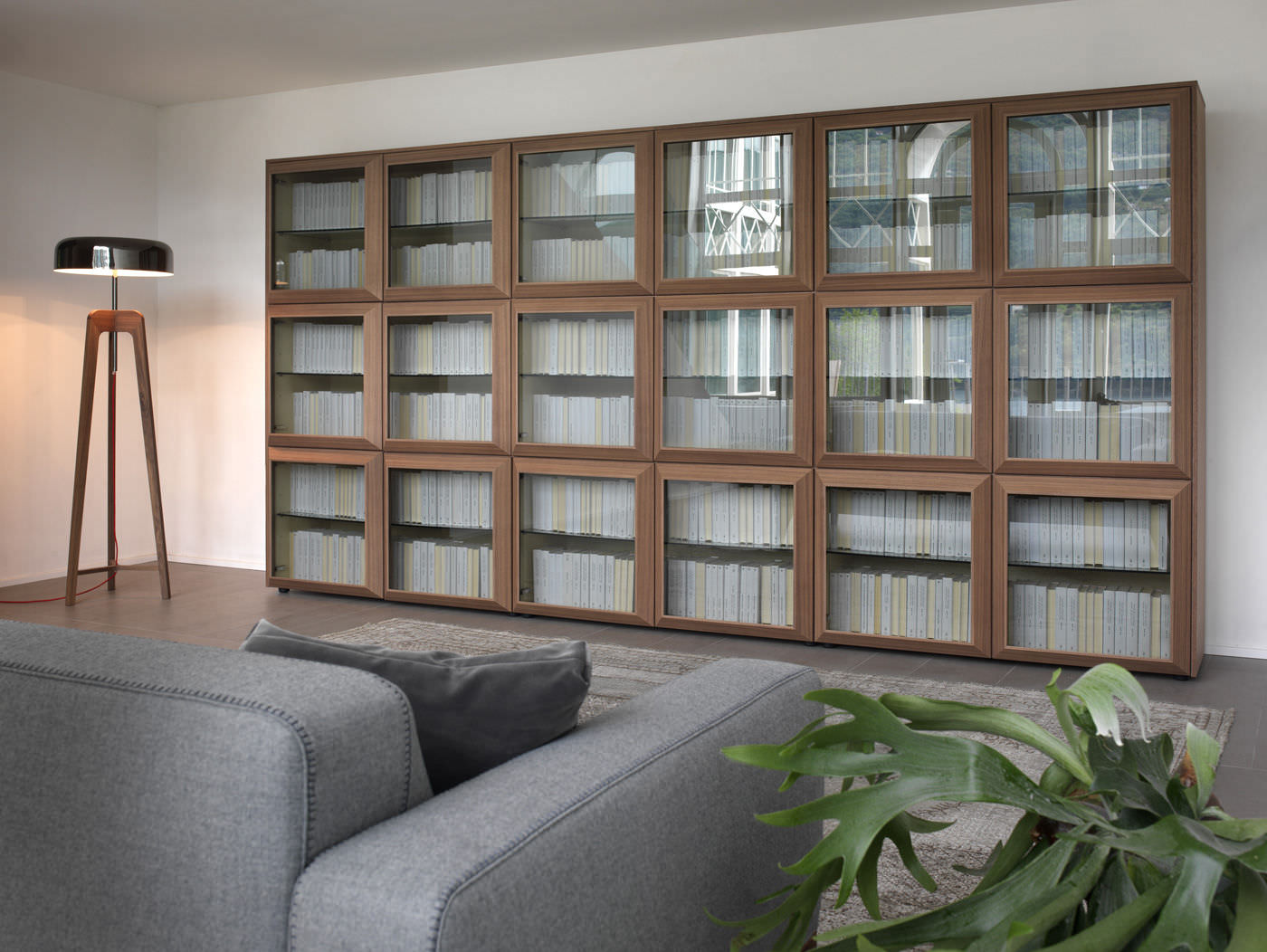 Contemporary Bookcases With Gl Doors Easy Home
