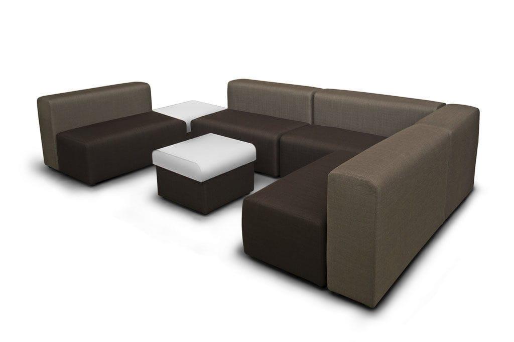 Modular sofa / contemporary / fabric / brown - ALEA by Marcello ...