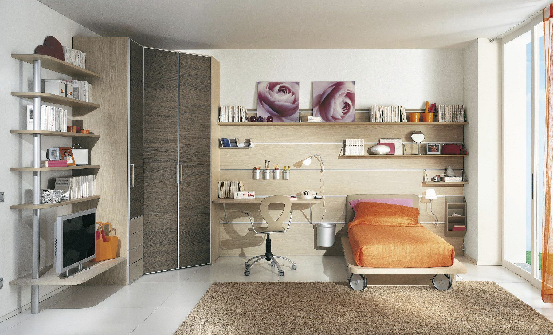 Uni Children S Bedroom Furniture Set White Max Young Sangiorgio Mobili