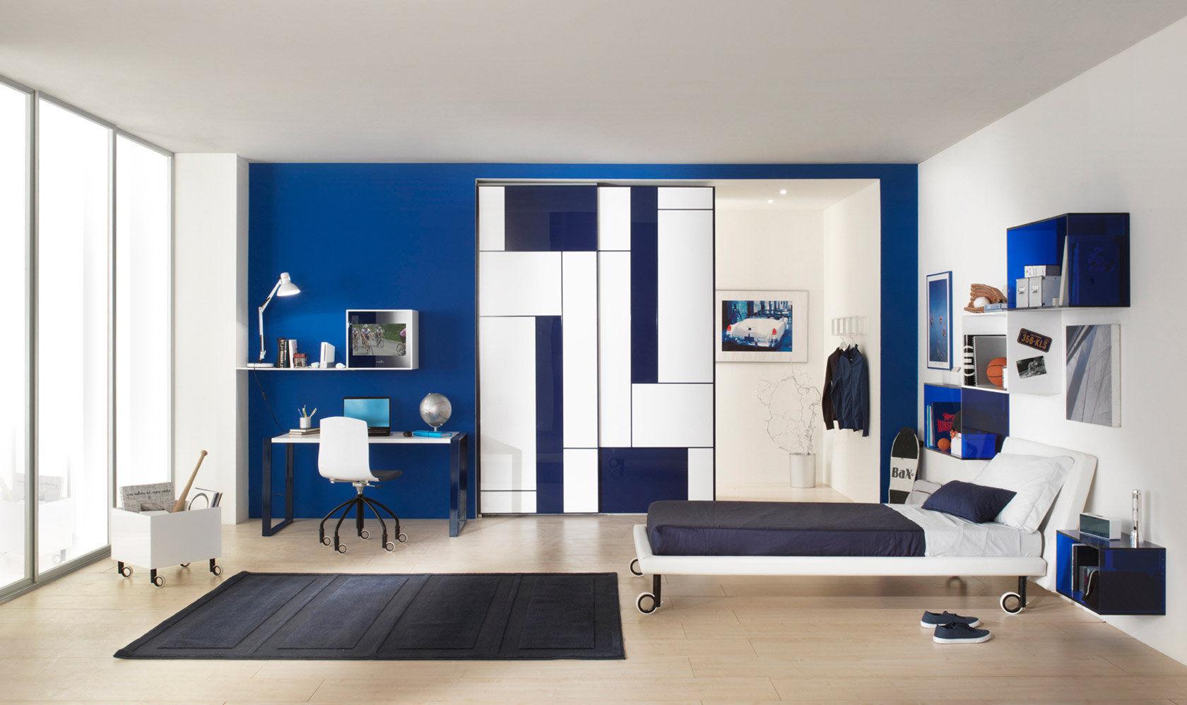 Boys bedroom furniture set white KUBIKA COMPOZIONE 3