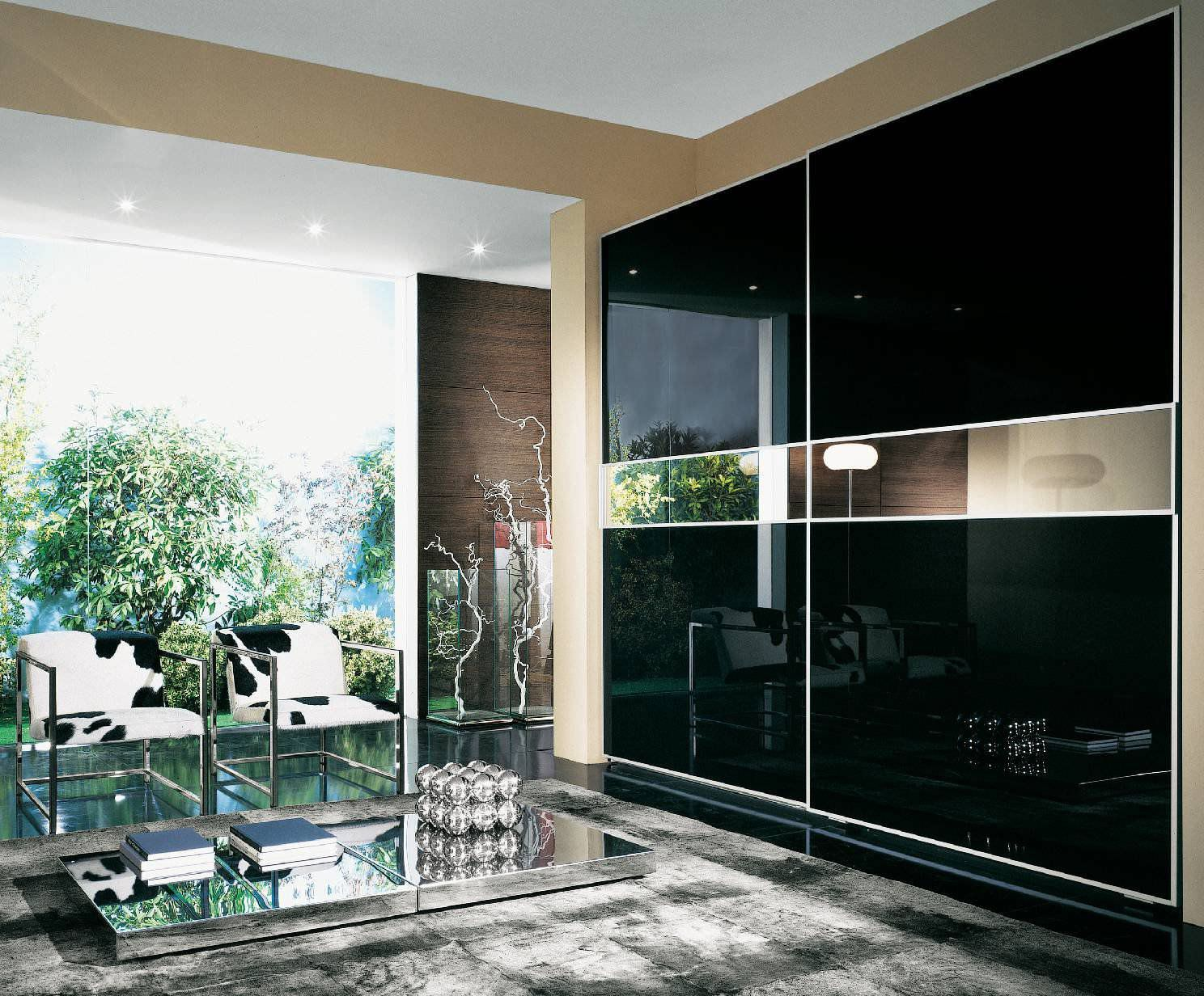 Contemporary Wardrobe / Glass / Lacquered Glass / Sliding Door ...