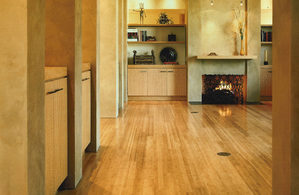 Bamboo Laminate Flooring Floating Residential Flat Grain Natural Smith Fong Plyboo