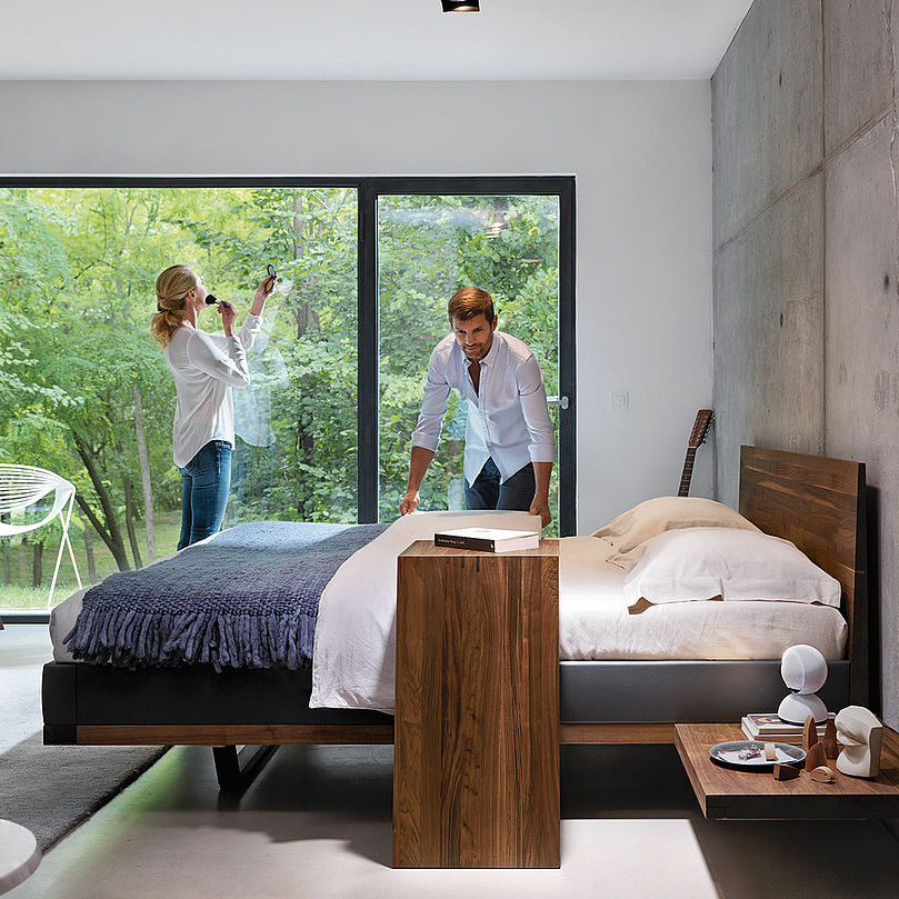 double bed contemporary with headboard