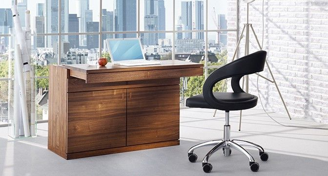 Contemporary Secretary Desk / Oak / Walnut / Beech ...