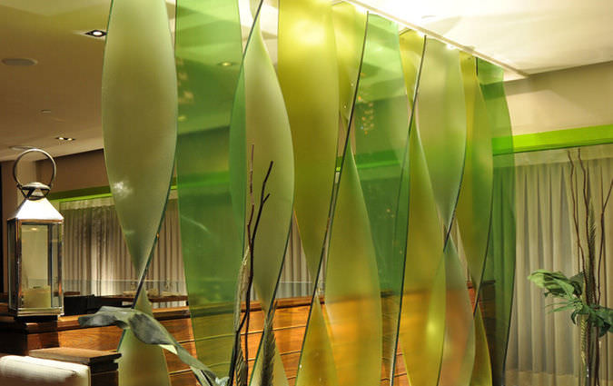 Resin decorative panel / for partition walls / GreenGuard ...
