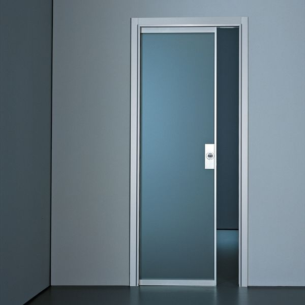 Indoor Door Sliding Glass Aluminum Planus By Antonio