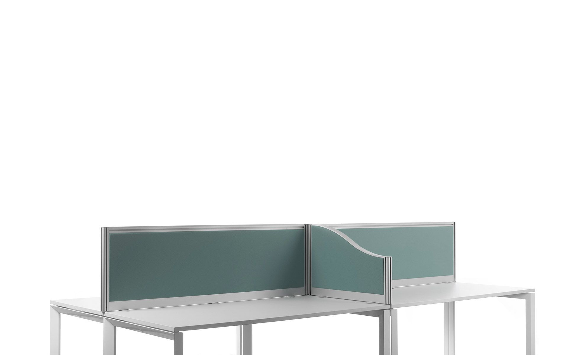 Countertop office divider glass polycarbonate acrylic