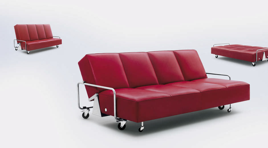 Sofa Bed Contemporary 4 Seater On Casters Couch By Frederick Kiesler Wittmann