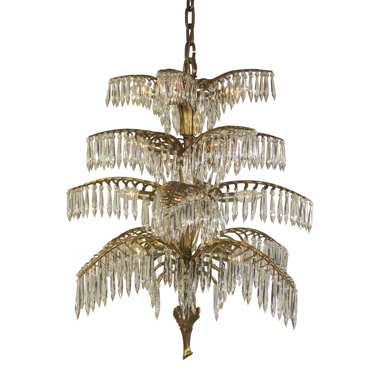 Traditional chandelier crystal brass handmade PALME 20332 – Traditional Chandelier