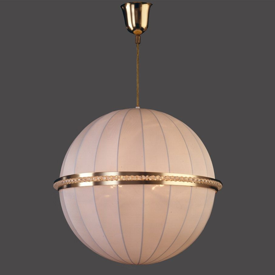 Pendant Lamp / Traditional / Silk / Crystal   LUNA 9748