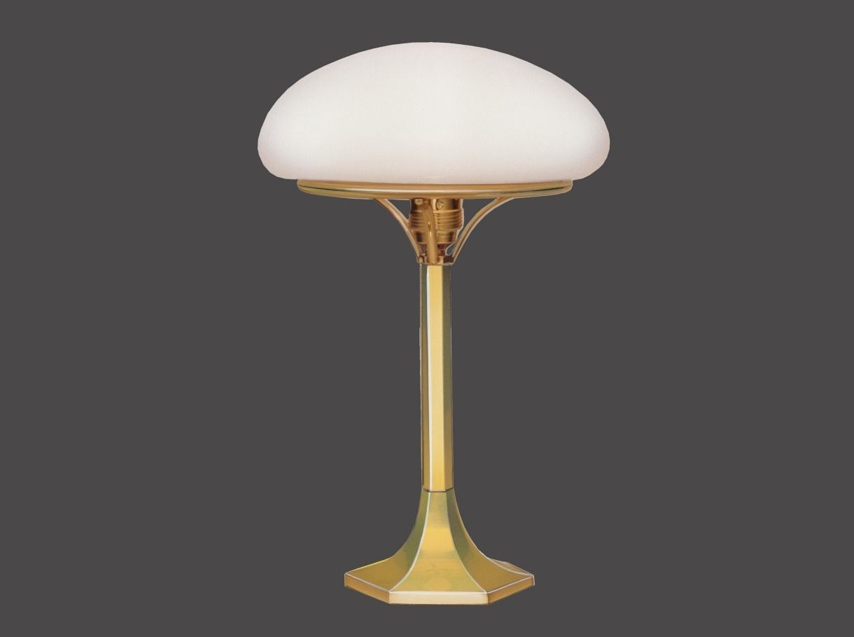 ... Table Lamp / Traditional / Glass / Brass HSP1 1 Woka Lamps Vienna ...