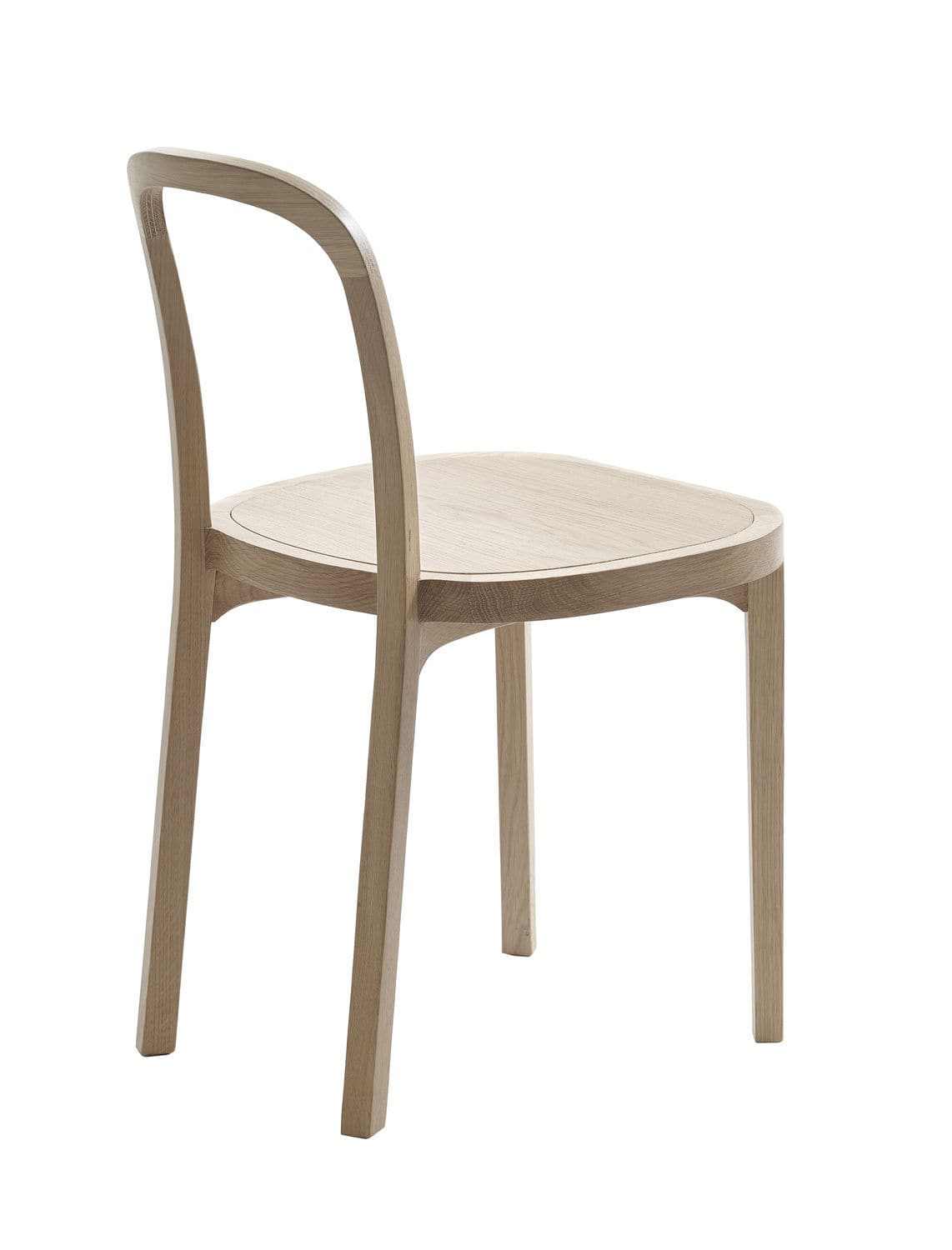 Contemporary Dining Chair Upholstered Oak Fabric SIRO By - Contemporary wooden dining chairs