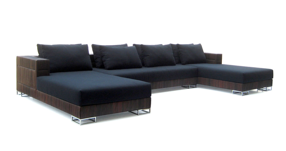 Modular sofa / contemporary / fabric / 4-seater - U-ZO - Yothaka