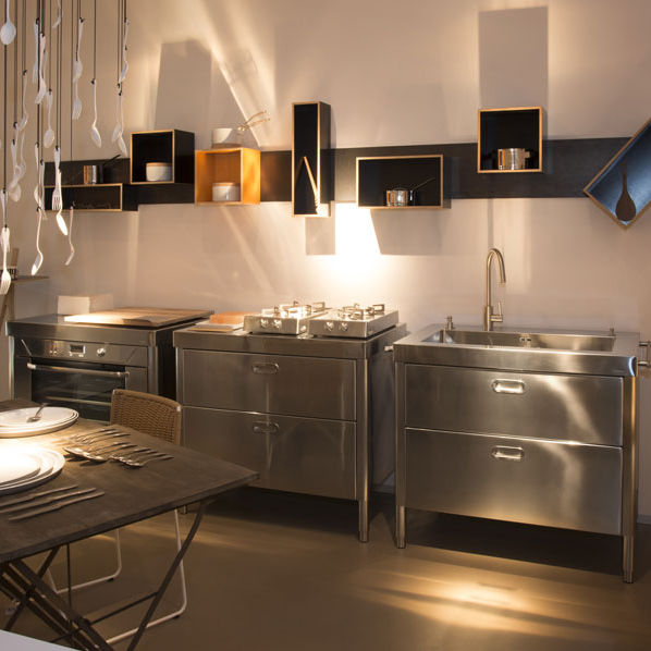Kitchen unit - 100 COMBINED (3) - ALPES-INOX