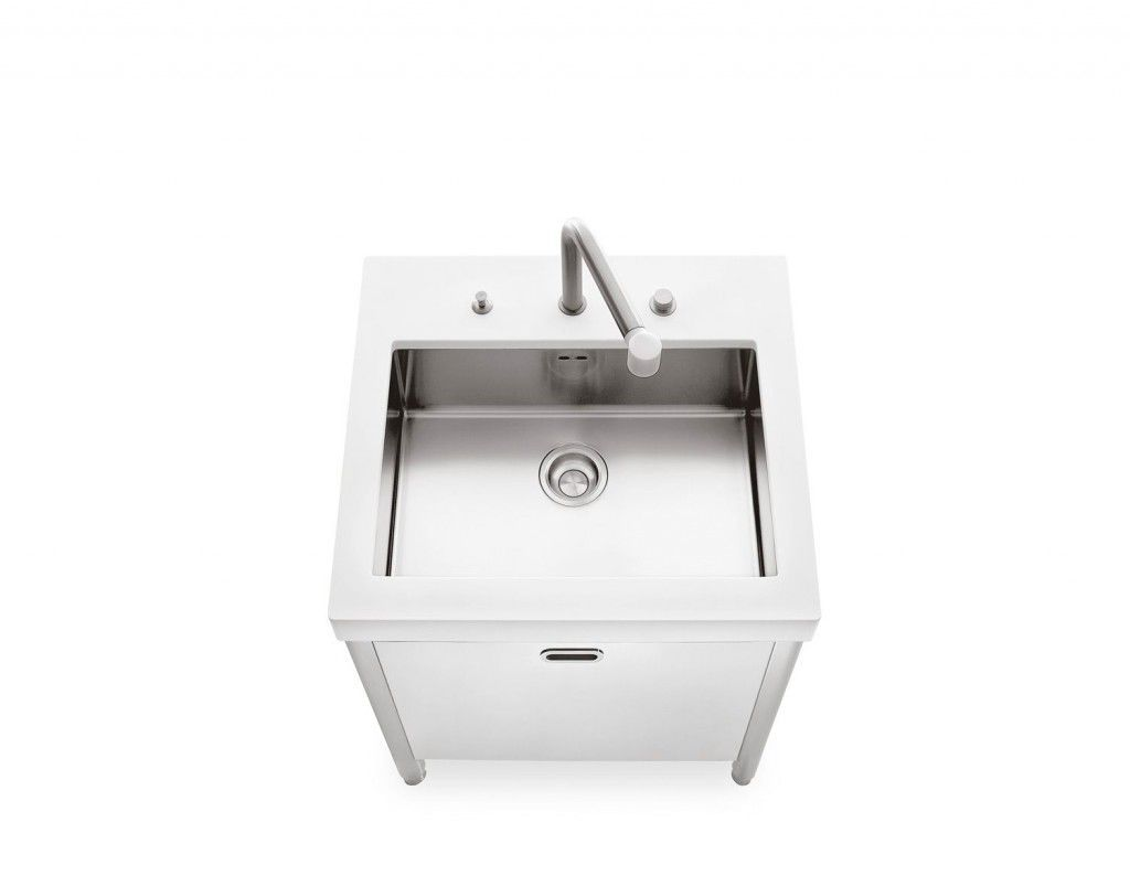 Stainless steel kitchen sink cabinet - SINK 70 - ALPES-INOX