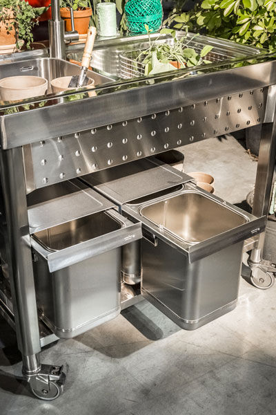 Stainless steel kitchen sink cabinet - UNIT 100 – LARGE BOWL ...
