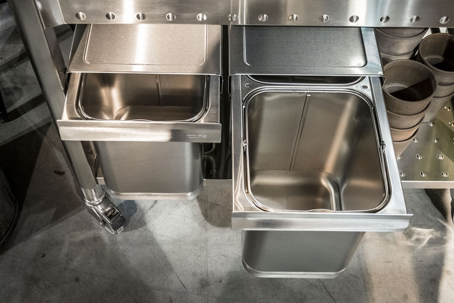Stainless steel kitchen sink cabinet / for gardens - UNIT 100 ...