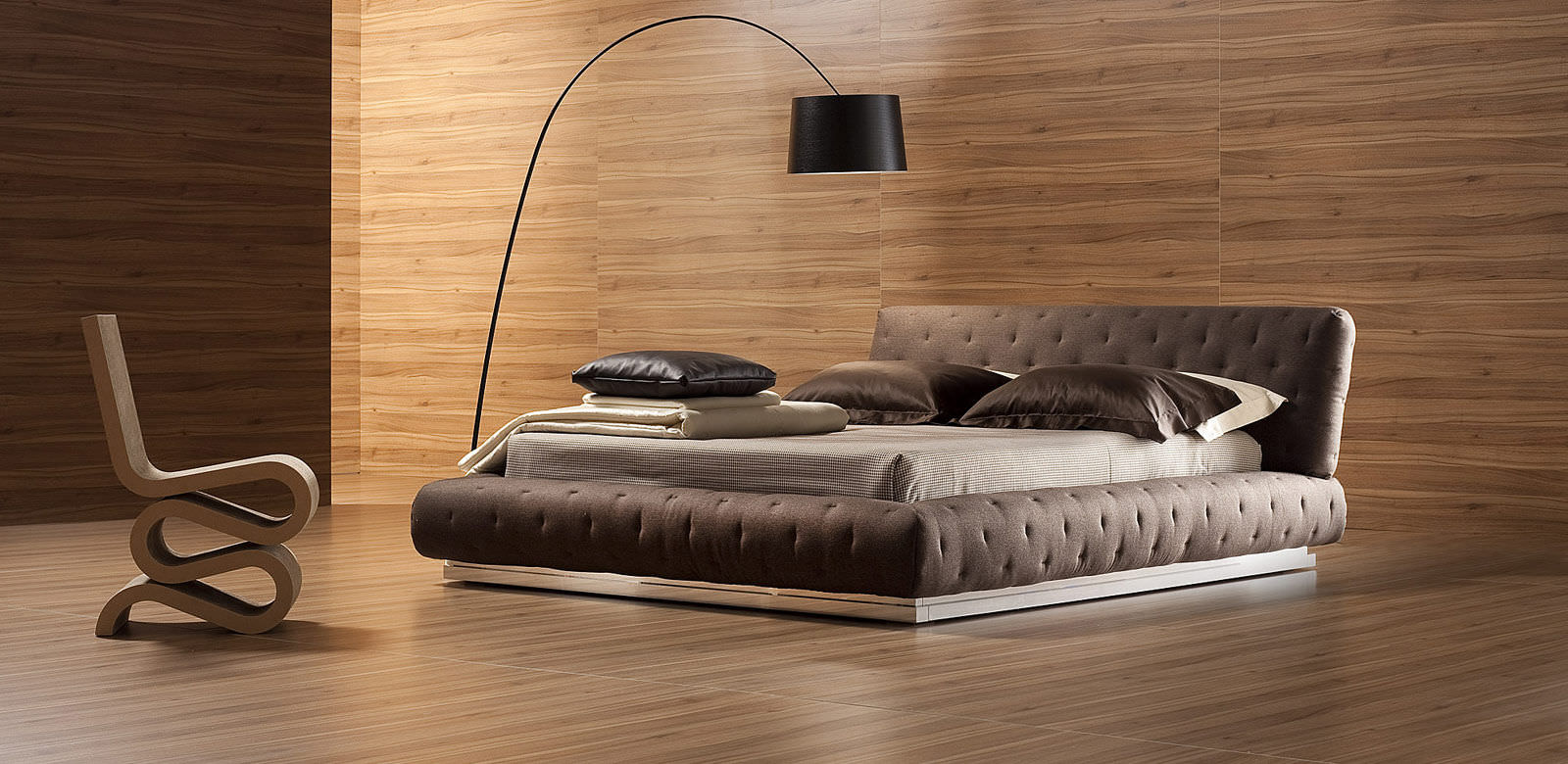 Double Bed Contemporary With In Base Storage Fabric Pasha