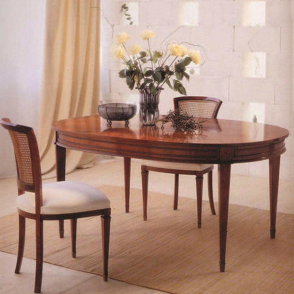 Traditional Dining Table Cherrywood Oval C ANNIBALE COLOMBO - Oval cherry wood dining table