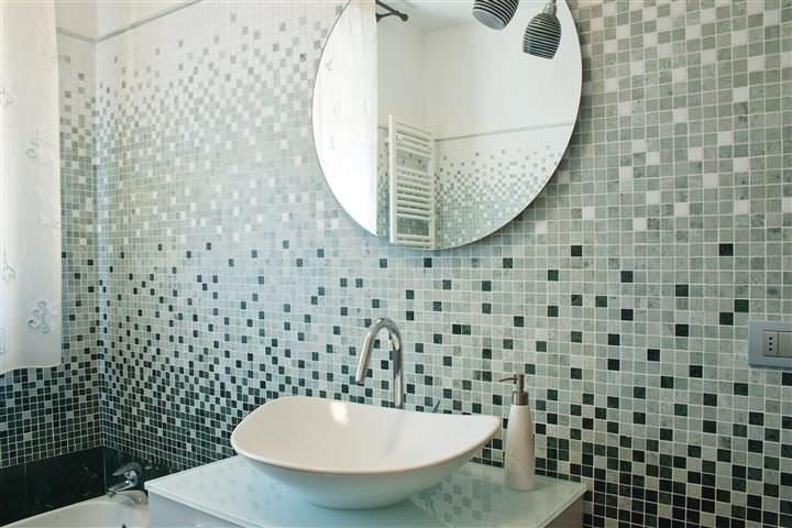 Charming Indoor Mosaic Tile / Bathroom / Wall / Marble   DEGRADE