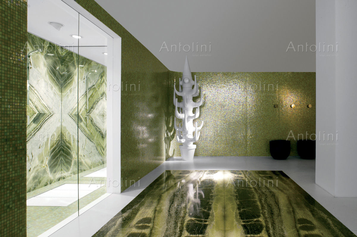 Indoor tile bathroom floor marble irish green antolini indoor tile bathroom floor marble dailygadgetfo Choice Image