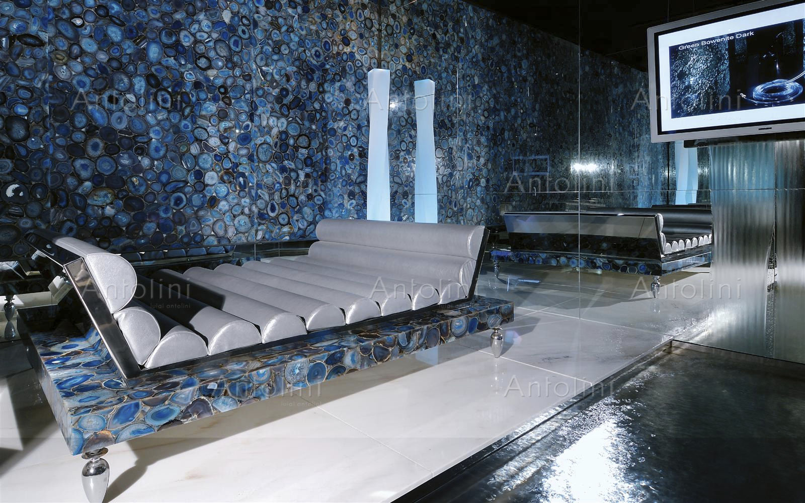 Indoor tile / wall / agate / polished - PRECIOUSTONE COLLECTION ...