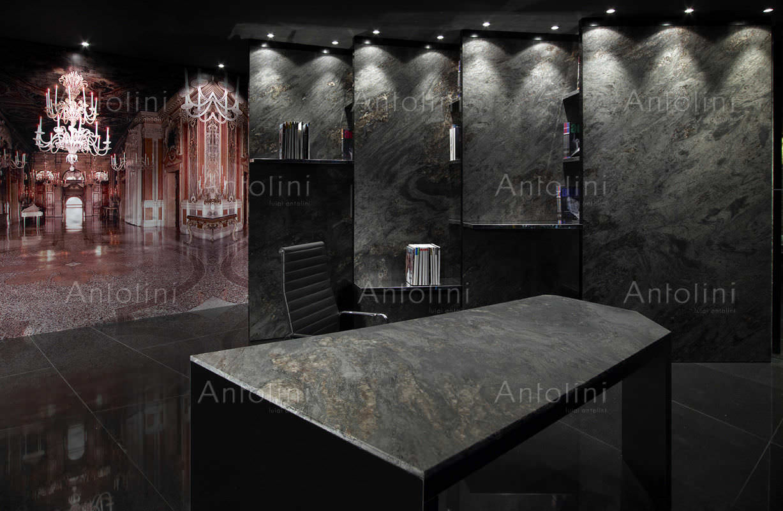 Indoor Tile Floor Granite Polished Earth Glitter Antolini