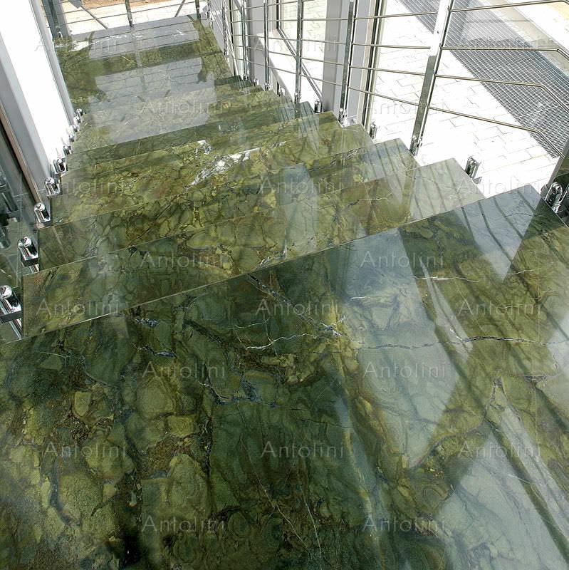 Indoor tile / floor / granite / polished - VERDE FANTASTICO ...