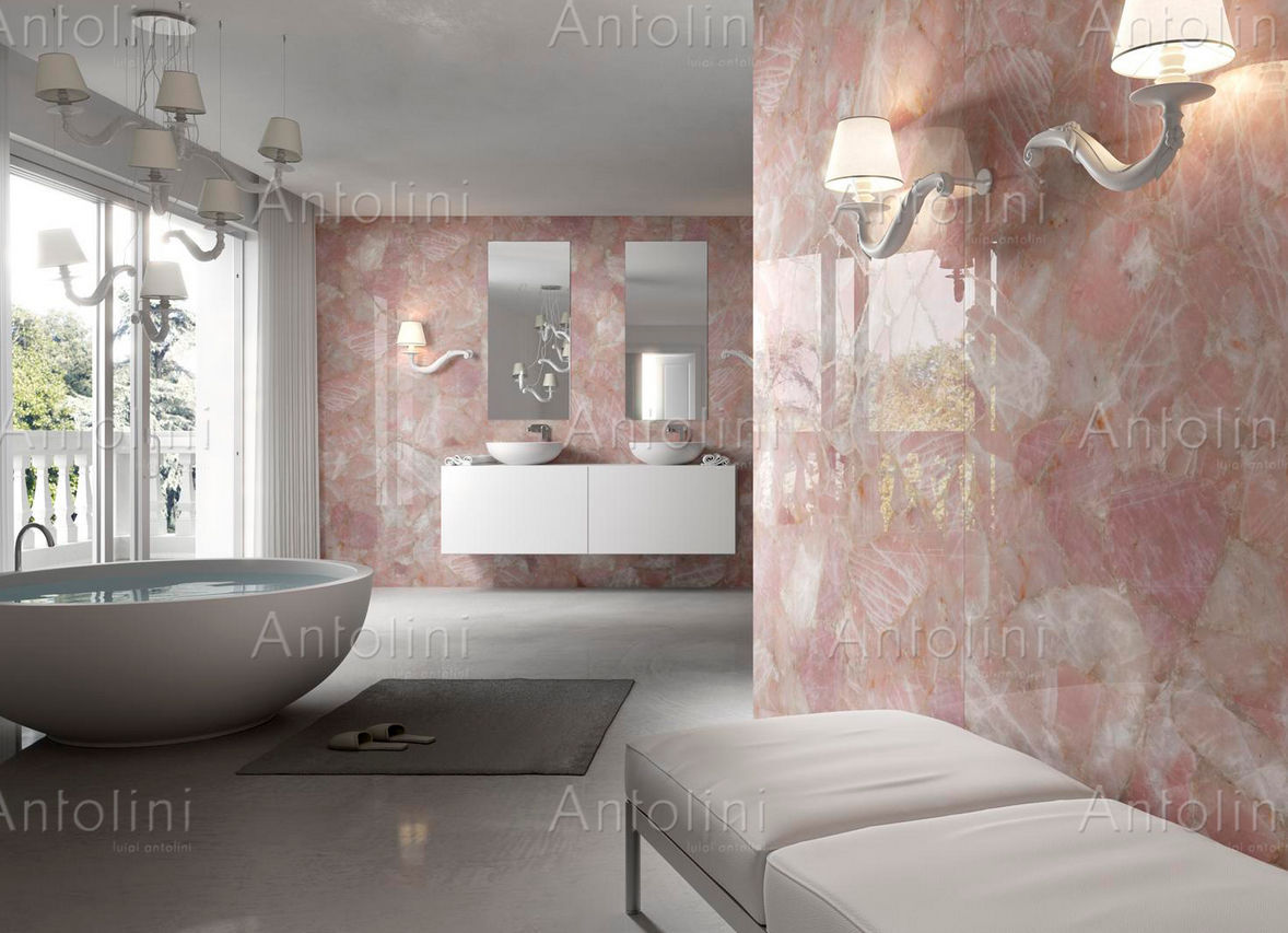 Indoor tile floor wall quartzite precioustone collection indoor tile floor wall quartzite precioustone collection rose quartz antolini luigi dailygadgetfo Images
