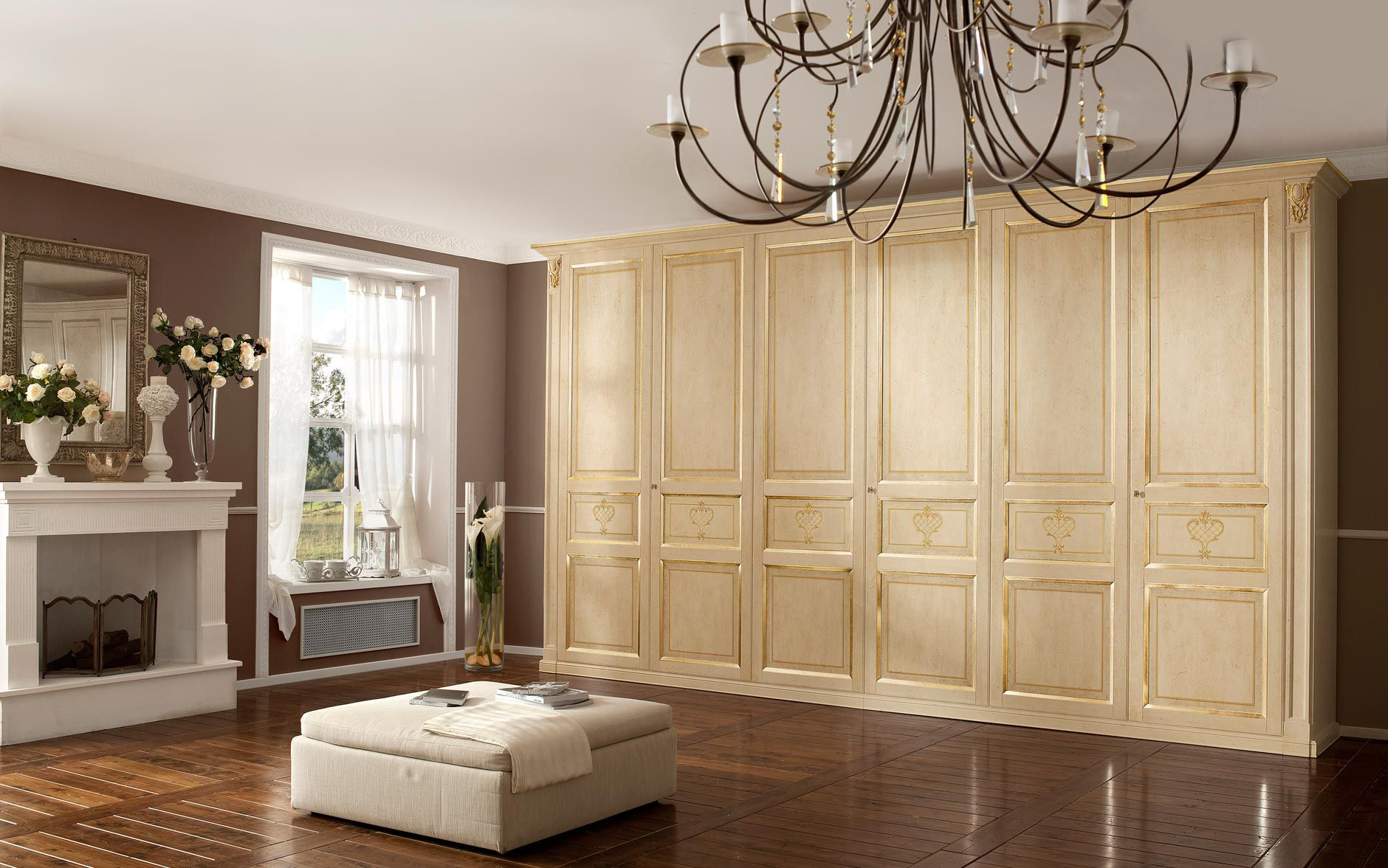 traditional wardrobe / wooden / with swing doors - firenze ... - Mobili Design Firenze