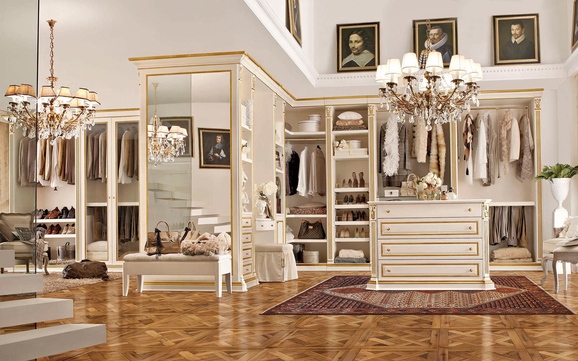 Begehbarer eckkleiderschrank  Wooden walk-in wardrobe - benedetti MOBILI