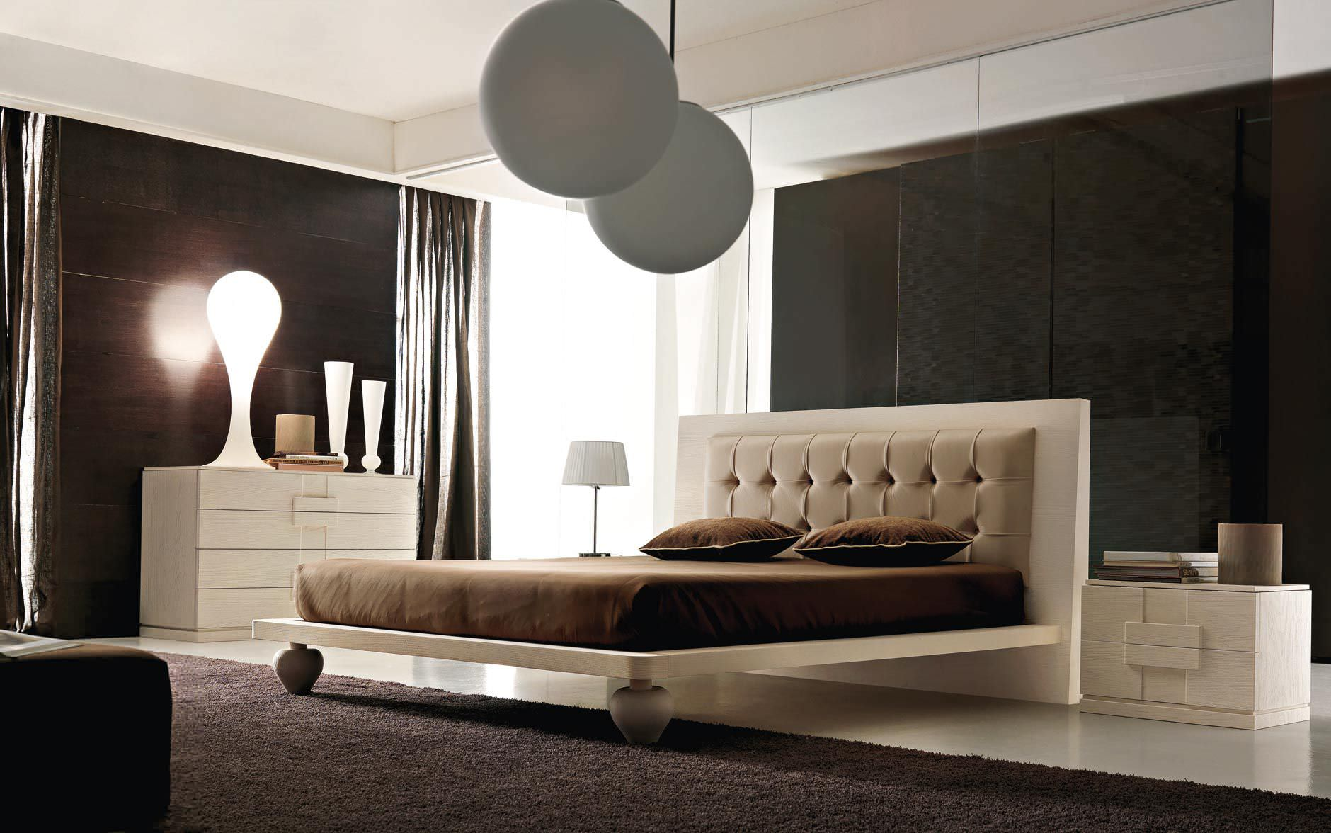 Double bed / contemporary / ash - NAMIB - benedetti MOBILI - Videos
