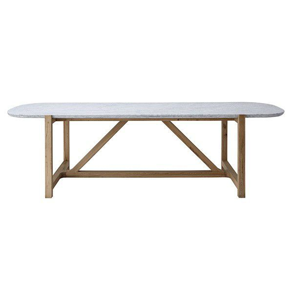 dining table marble oak rectangular stoneleaf l