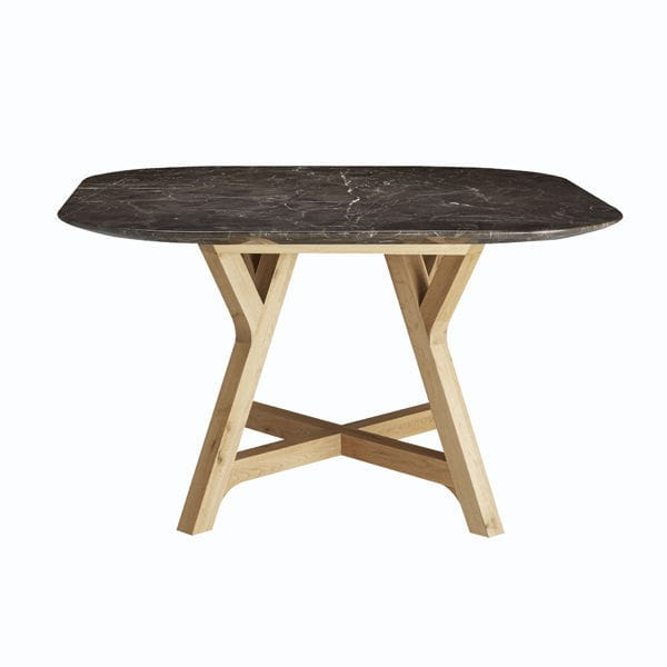 Contemporary dining table marble oak square stoneleaf bleu contemporary dining table marble oak square stoneleaf watchthetrailerfo