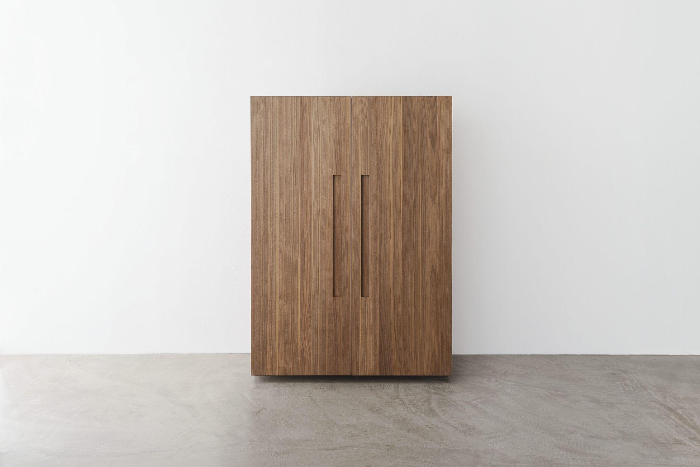 ... Contemporary Storage Cabinet For Kitchen / Walnut
