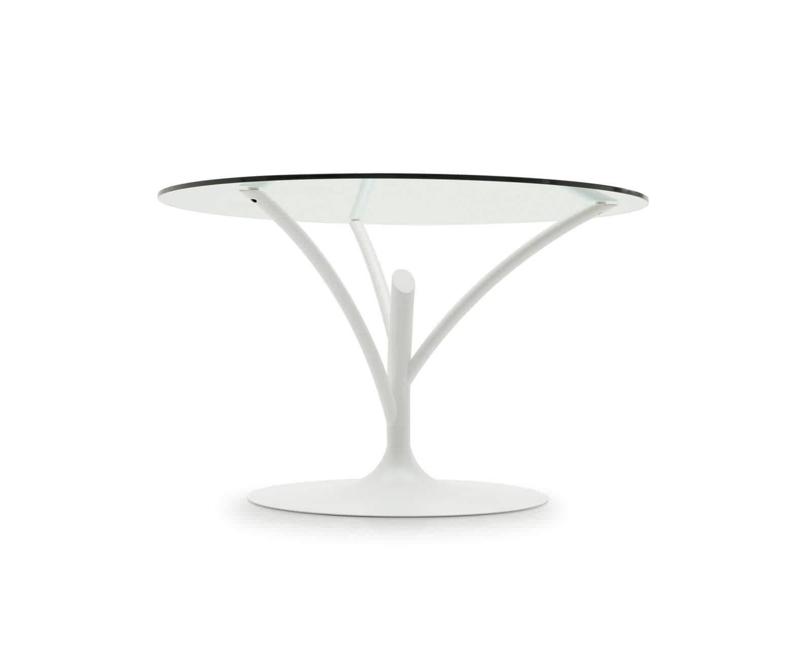 Contemporary Dining Table  Glass  Metal  Round ACACIA By - Metal round dining table