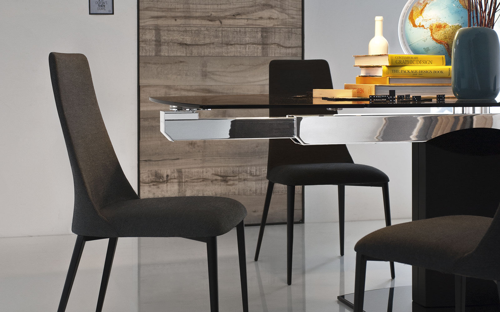 ... Contemporary Chair / Upholstered / High Back / Ash ETOILE By Studio 28  Calligaris