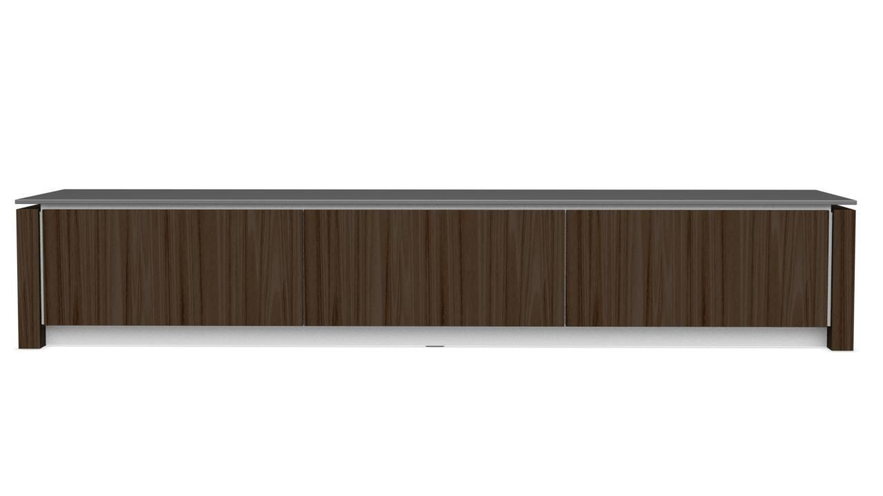Contemporary Tv Cabinet Lowboard Wooden Glass Mag Calligaris # Made Com Meuble Tv