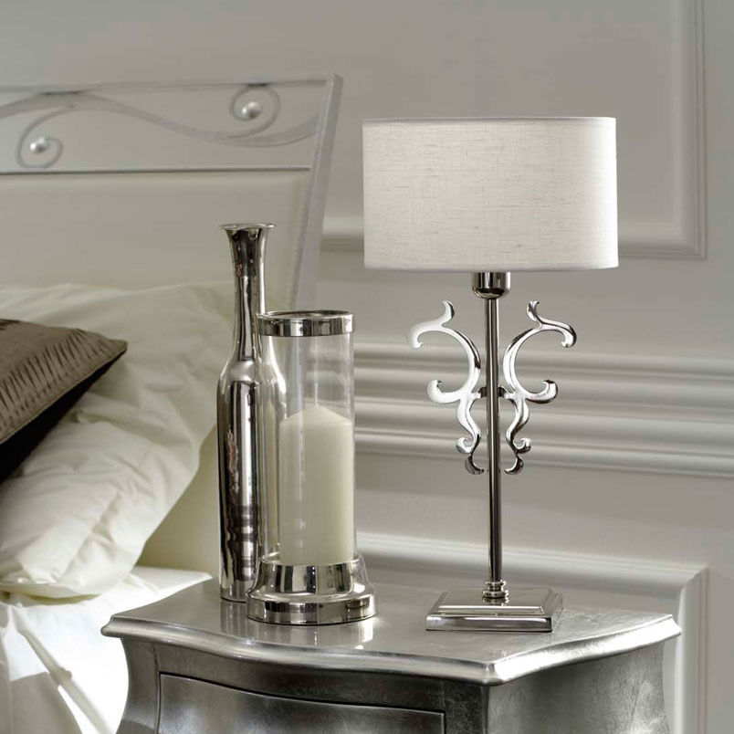 Classic bedside table - Bedside Table Lamp Classic Linen Iago