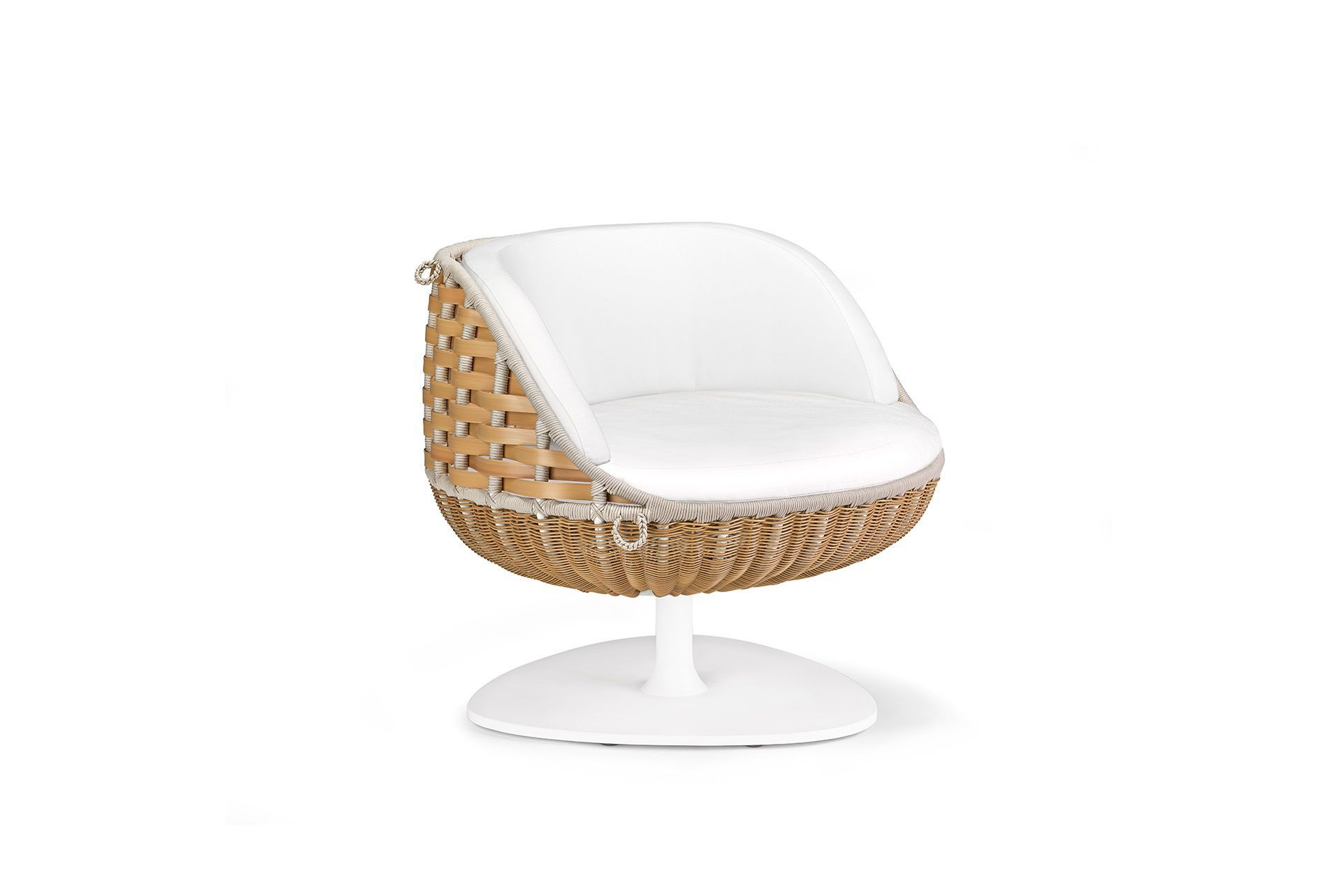 Beautiful ... Contemporary Armchair / Resin Wicker / Hanging / Central Base SWINGREST  By Daniel Pouzet DEDON GmbH ...