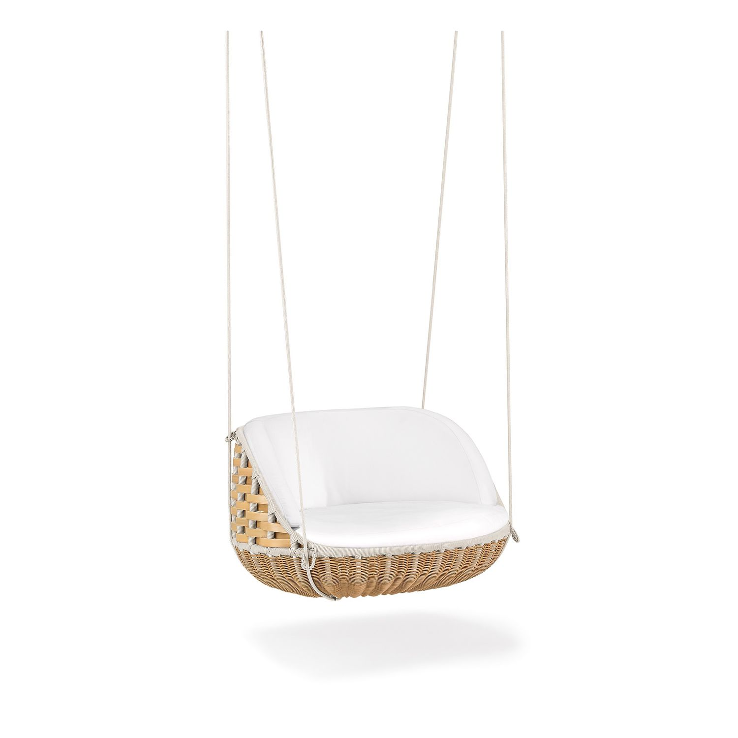 Amazing Contemporary Armchair / Resin Wicker / Hanging / Central Base   SWINGREST  By Daniel Pouzet
