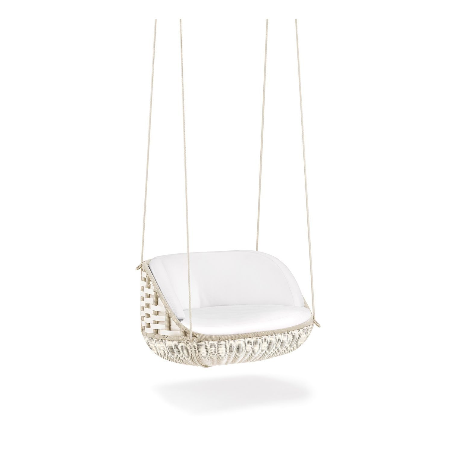 Captivating Contemporary Armchair / Resin Wicker / Hanging / Central Base SWINGREST By  Daniel Pouzet DEDON GmbH ...