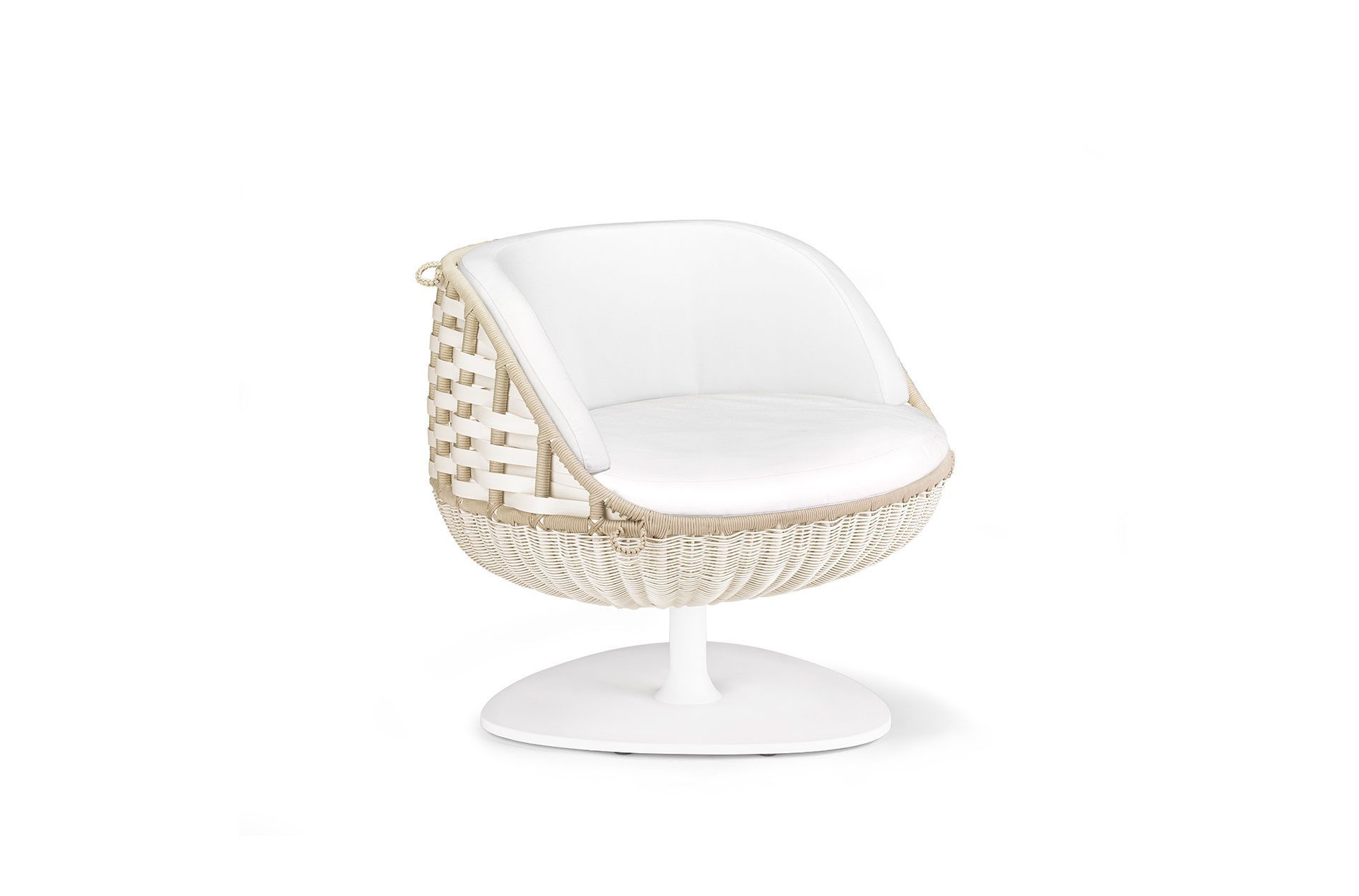 Elegant ... Contemporary Armchair / Resin Wicker / Hanging / Central Base SWINGREST  By Daniel Pouzet DEDON GmbH ...