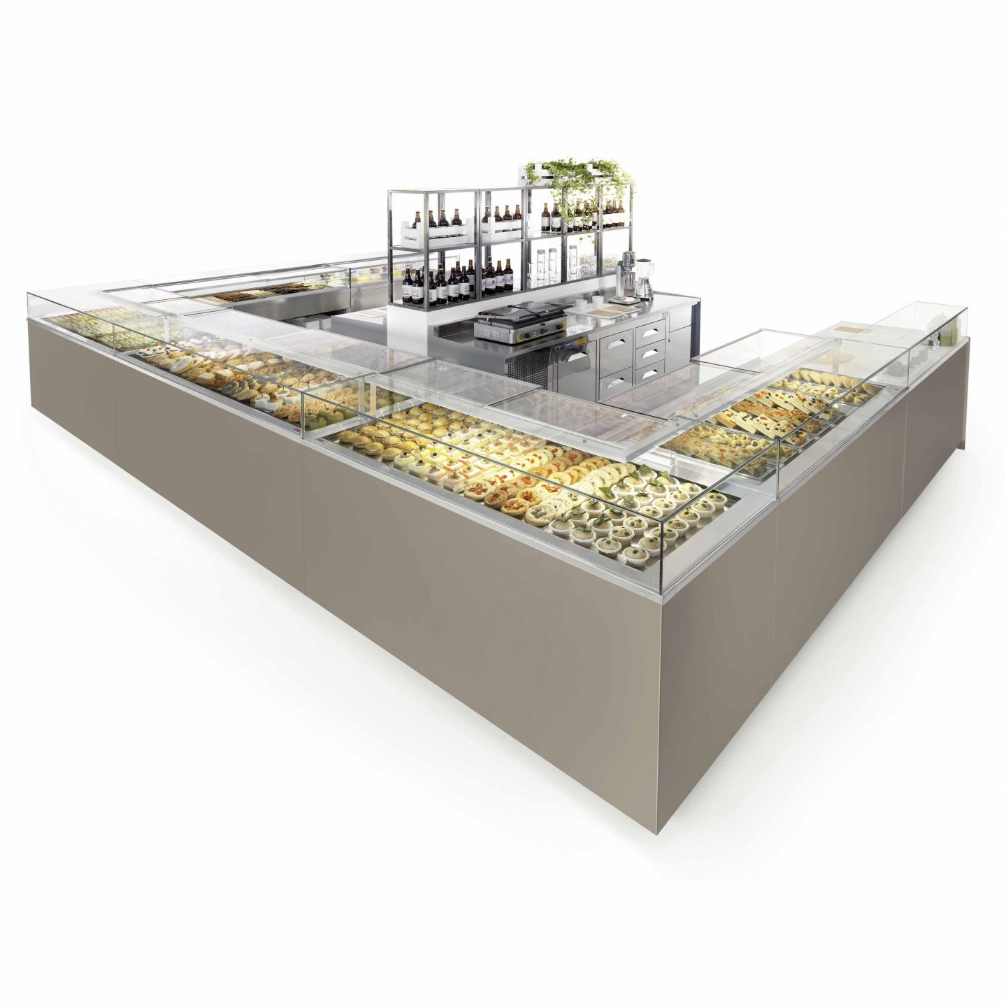 Refrigerated Display Counter Illuminated For Pastry Shops  Drop In