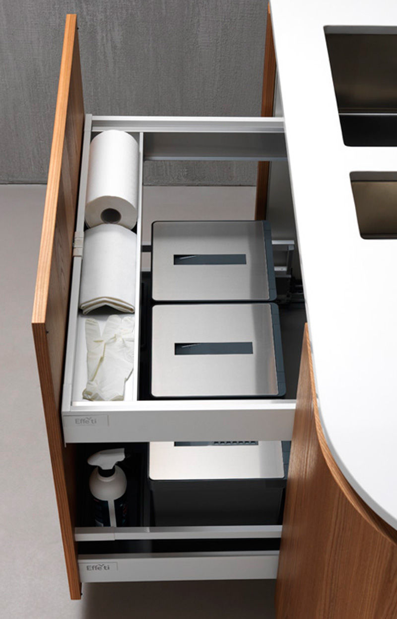 Contemporary kitchen / laminate / wooden / island - SINUOSA by ...